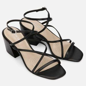 Kenneth Cole Maisie Strappy Black Leather Sandal